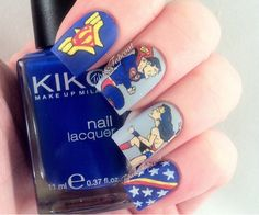 Tips and Topcoat: Wonder Woman & Superman Nail Art