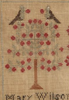 "Brunk Auctions - 1826 ""Babes in the Wood"" needlework,"