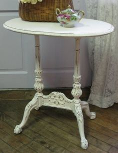 French Cottage Side Table