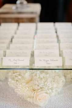 You'll fall in love with everything about this romantic and gorgeous Santa Barbara wedding photographed by Erin Hearts Court. There is beauty in every detail of this wedding. All White Wedding, Our Wedding, Dream Wedding, Lgbt Wedding, White Weddings, Wedding Place Cards, Wedding Wishes, Wedding Seating, Wedding Reception