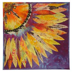 "Fancy Dancer by Barbara Olson,  12 x 12"", 2012 SAQA Auction quilt"