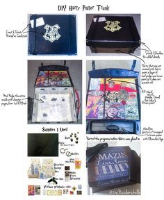 DIY Harry Potter Trunk out of Decorative Storage box from Michaels.