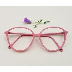 Vintage pink frames 80s pale pink eye glasses plastic Italian pastel... (22.430 HUF) ❤ liked on Polyvore