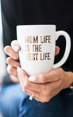 Can we get an AMEN! Mom Life is the Best life! Our Newest mug addition, is Mom Life is the Best Life. This is perfect for all the proud mama's out there. Sip your morning brew from our Gold Mom Life i
