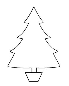 Top Christmas Clip Art Black And White 37 Tree Templates In All Shapes Sizes Free Template From First School