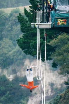 Bungy jumping in New Zealand!