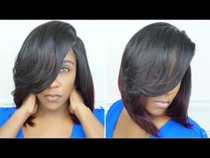 DEEP SIDE PART BOB INSTALL | CUT & STYLE | NO HAIR OUT [Video] - http://community.blackhairinformation.com/video-gallery/weaves-and-wigs-videos/deep-side-part-bob-install-cut-style-no-hair-video/