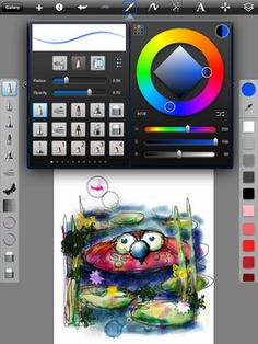Sketchbook Pro, detailed and complex iPad drawing/painting app. From blog post, My Top 3 Favorite Art Teacher Apps