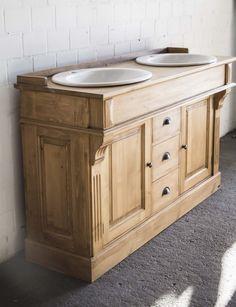 Waschtisch mit eine Marmorplatte. | Badezimmer / bathroom ... | {Waschtischunterschrank holz antik 50}