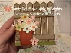 How To Video: make a fence and flower card with the Hardwood Background stamp and Chevron punch from Stampin Up! by Patty Bennett www.pattystamps.com