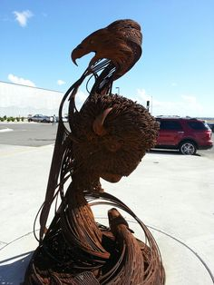 Belcourt, ND... I got to see this in my cousin Bennett's shop before it was presented to the casino!!!