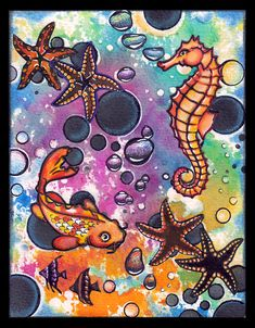 """anjas-artefaktotum: """"Spots, Dots and Splashes"""" A Colorful Underwater World with Designs by Ryn for TioT Challenge"""