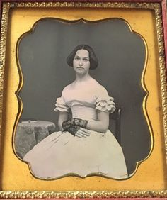 Gorgeous Young Woman Stunning White Dress Pure 1 6 Case Daguerreotype Photo D199 | eBay