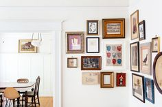 White walls and multi colored frames