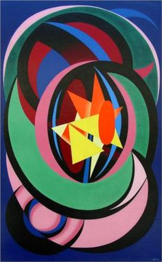 Auguste Herbin (French: 1882 - 1960) | Combat Clair-Obscur (1939)