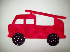 Fabric Applique TEMPLATE ONLY Fire Engine Truck by etsykim on Etsy, $1.50