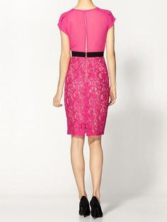 Lace Sheath Dress - Lyst