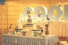 Cooper's christening table by mon tresor & couture cupcakes & cookies
