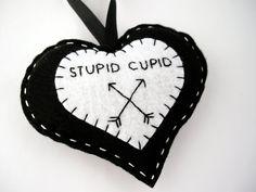 Stupid cupid heart anti valentine day by FishesMakeWishesHome