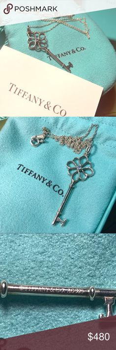 Tiffany and co knot key with diamond Tiffany and co Key with diamond on a Tiffany chain. Bought for over $500 after tax. Super pretty. Was from an ex though so I want to let it go but it's so pretty I'm only willing to let go for the price listed. PRICE IS FIRM since posh takes 20% and I get less than 400 Tiffany & Co. Jewelry Necklaces
