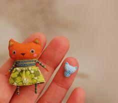 Miniature kitties by mirianata on Etsy