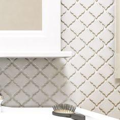 """EliteTile Pharsalia 2"""" x 2.25"""" Porcelain Mosaic Tile in Glossy White"""