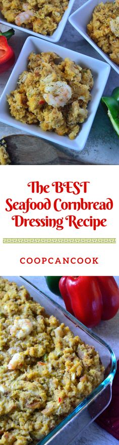 Add a flavorful twist to your Thanksgiving spread with this Seafood Cornbread Dressing recipe! Your family will request it every year after!