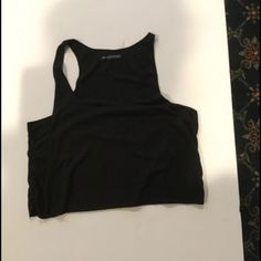 Brandy crop top Size small, black crop top, perfect condition Brandy Melville Tops