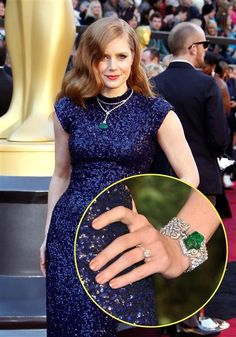 "Amy AdamsYear: 2011Fashion verdict: Award winningAmy Adams' ability to dress for the red carpet reached new heights at the 2011 Academy Awards when she paired her midnight blue L'Wren Scott gown with $1.35 million worth of diamond-and-emerald jewelry by Cartier. Amy, who was nominated in the Best Supporting Actress category for her role in ""The Fighter"" that year, donned a bracelet featuring a 30.75-carat emerald, 2-carat stud earrings and a diamond necklace featuring a carved 33.24-carat…"