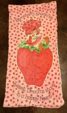 VINTAGE Strawberry Shortcake Sleeping Bag Bedding Comforter Blanket Multi Color | eBay