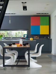 Casinha colorida: Home Tour: um uso sagaz das cores