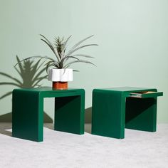 Laminate Furniture Is Making a Comeback 80s Furniture, Green Painted Furniture, Laminate Furniture, Vintage Furniture, Furniture Design, Vintage Nightstand, Green Paint Colors, 80s Design, Interior Design