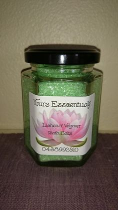 Lichen and Vetyver Bath Salts $5 each  TO ORDER  yoursesscentually@gmail.com                  OR  www.facebook.com/yoursesscentually
