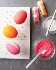 ostereier gestalten glitzernd ombre eier