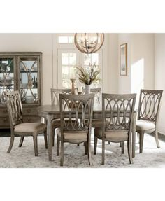 Kelly Ripa Home Hayley 7Pcdining Set Dining Table & 6 Side Impressive Buy Dining Room Table And Chairs Design Inspiration