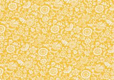 Liberty of London Fat Eighth 'Clare and Emily C', yellow and white traditional Liberty print