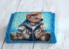 blue nursery decor, Baby Shower Gift, Bear Box, Boys Nursery Box, Teddy Bear Box, Tooth Fairy box, nursery decor box, Baby Boy Room Box Jewellery Boxes, Jewelry Box, Small Wood Box, Home Decor Boxes, Tooth Fairy Box, Baby Boy Rooms, Baby Room, Bear Design, Cute Teddy Bears