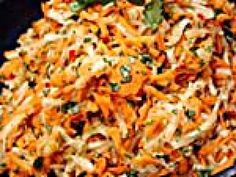 South African Sambal recipe from Melting Pot via Food Network South African Salad Recipes, Ethnic Recipes, Africa Recipes, Farfalle Recipes, Sambal Recipe, Carrot Slaw, Best Food Ever, Vegetable Sides, Vegan Dishes