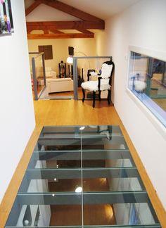 glass floor More