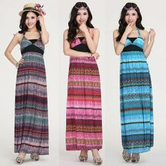 Bohemia Sexy Braces Skirt Print V Neck High Waist Slim Maxi Long Full Length Dress 2014 Summer Fashion Women Beach Dress New Hot