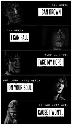 I can fall - The 100 Clarke Griffin Bellamy Blake Bellarke