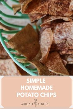 Simple homemade potato chips that you can make at home!