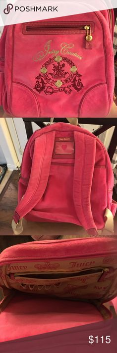 juicy couture large velvet pink backpack gorgeous large velour pink backpack with tons of pockets