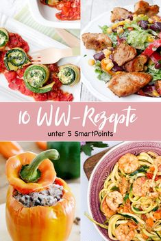 Meine 10 liebsten WW-Rezepte unter 5 SmartPoints My 10 favorite WW recipes among 5 SmartPoints. Perfect for a quick and point-friendly dinner – a food … Weight Loss Meals, Healthy Recipes For Weight Loss, Weight Watchers Meals, Healthy Eating Tips, Easy Healthy Recipes, Clean Eating, Easy Meals, Healthy Meals, Quick Recipes
