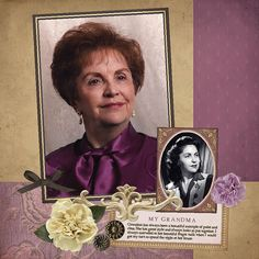 Ancestry Scrapbooking Layouts | Ancestry Digital Scrapbooking Layout | Flickr - Photo Sharing! - I like the young and older shots together...