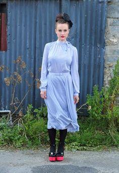 Vintage Blue Check Dress