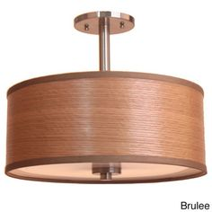 @Overstock.com - 3-light 15-inch Single Shade Satin Nickel Semi-flush Mount - This 3-light, 15-inch single shade semi-flush mount is an excellent addition to your living space. This mount will give your room a warm, soft glow and utilizes three 60 watt bulbs.  http://www.overstock.com/Home-Garden/3-light-15-inch-Single-Shade-Satin-Nickel-Semi-flush-Mount/8379195/product.html?CID=214117 $130.99