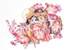 Radha Krishna Holi, Radha Krishna Love Quotes, Baby Krishna, Radha Krishna Images, Cute Krishna, Lord Krishna Images, Krishna Art, Radhe Krishna, Krishna Avatar