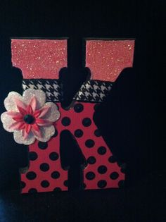 ideas for decorating sorority letters - Google Search