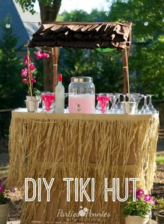 DIY Tiki Hut by PartiesforPennies.com